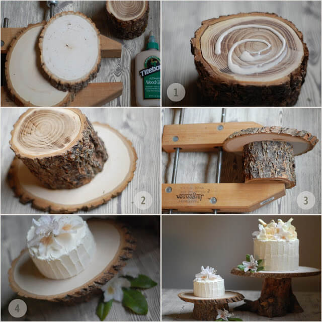 Wooden cake base DIY Project for Home