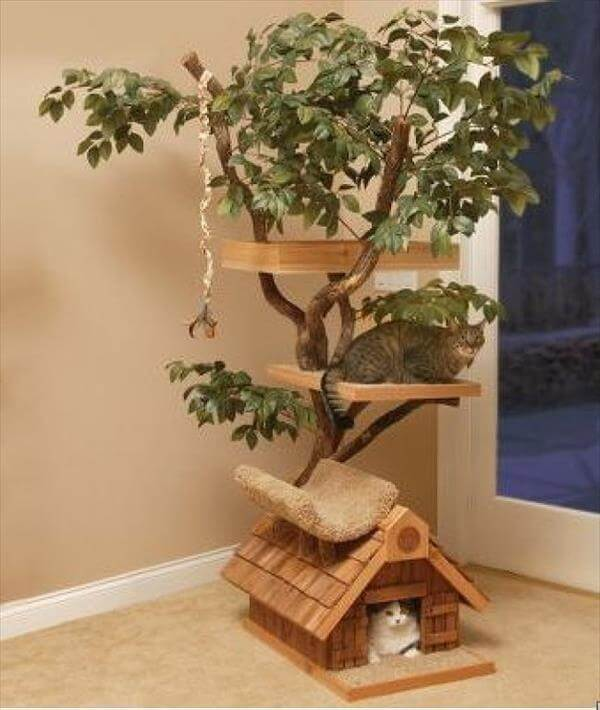 Wooden kitty home DIY Wood DIY Projects for Home