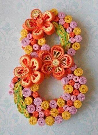 Paper Quilling Women's Day Crafts