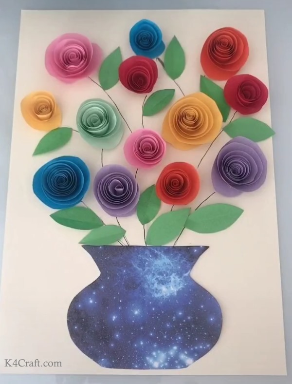 Adding details to the paper rose craft