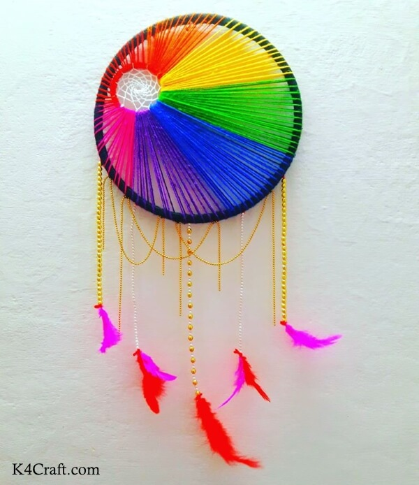DIY Rainbow Dream Catcher