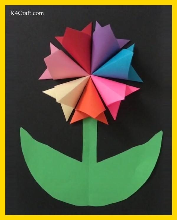 Beautiful 3D paper card flower