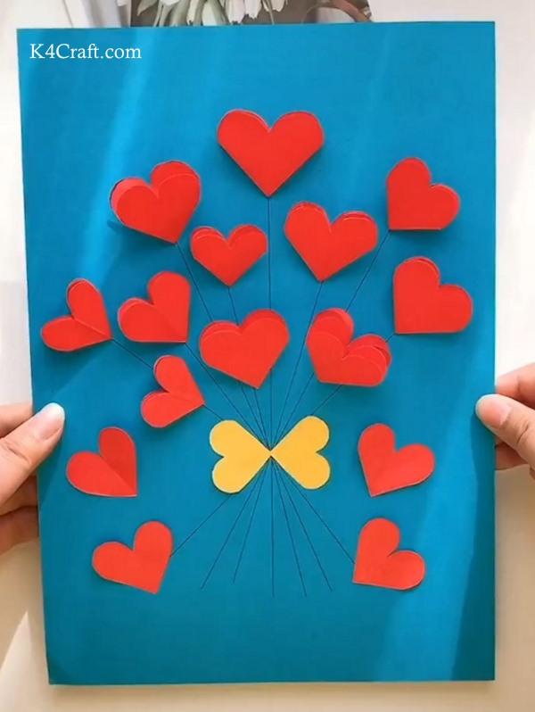 3D heart Paper Card Crafts