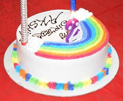 DIY Rainbow Cake-Rainbow Crafts & Activities