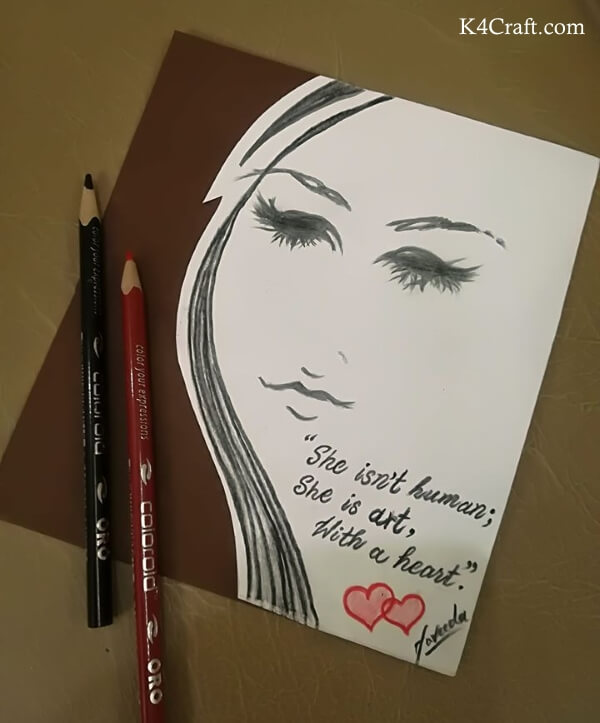 Beautiful Pencil Shading Women's Day Crafts