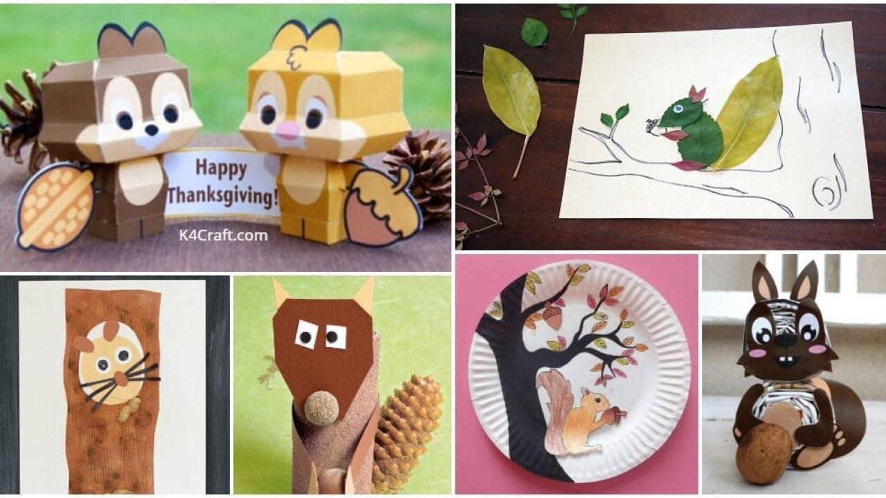 Creative Diy Squirrel Craft Ideas For Kids K4 Craft