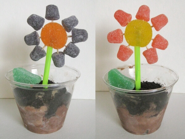 DIY Edible Ice Cream Flower Pots
