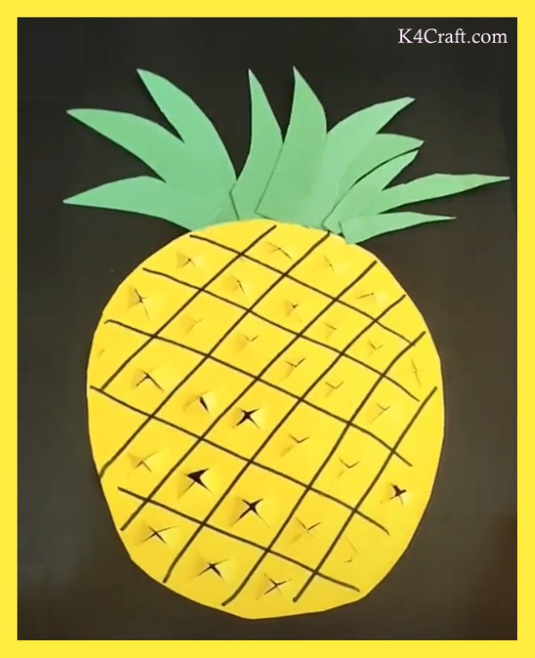 Pineapple Paper Card Crafts