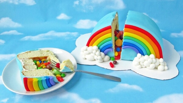 Rainbow Pinata Cake Recipe-Rainbow Crafts & Activities