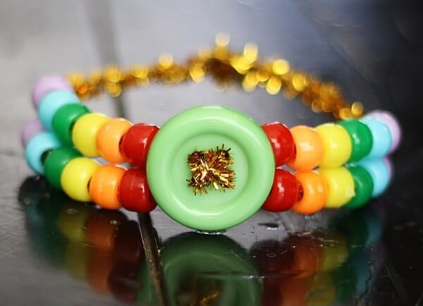 DIY Rainbow Pony Bead Bracelet