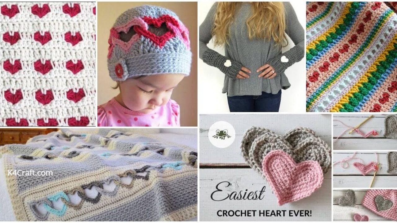 unique crochet heart patterns how to crochet heart