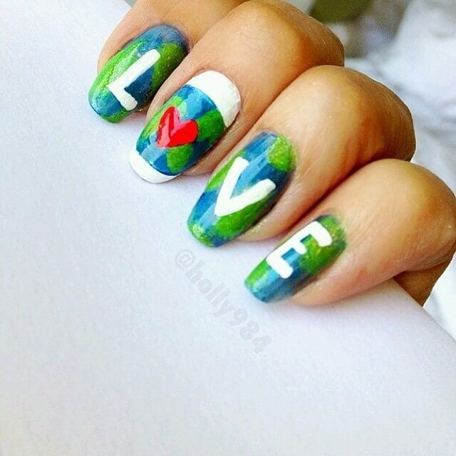 Mother Earth Day with These Adorable Nail Art Designs