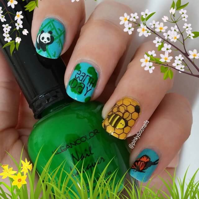 Earth Day with These Adorable Animal Nail Art Designs