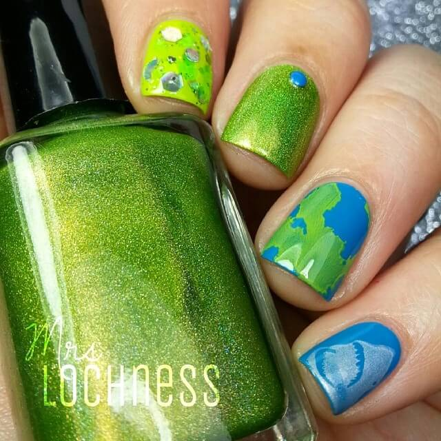 Green Is Quite A Cool Color Nail Art