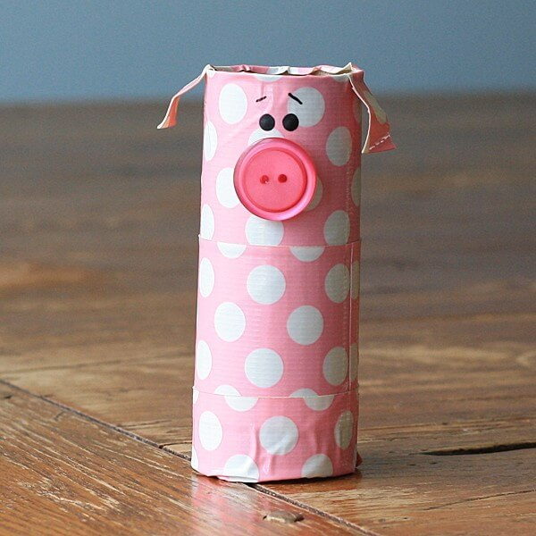 Cute Paper Pig Craft Using Tissue Roll