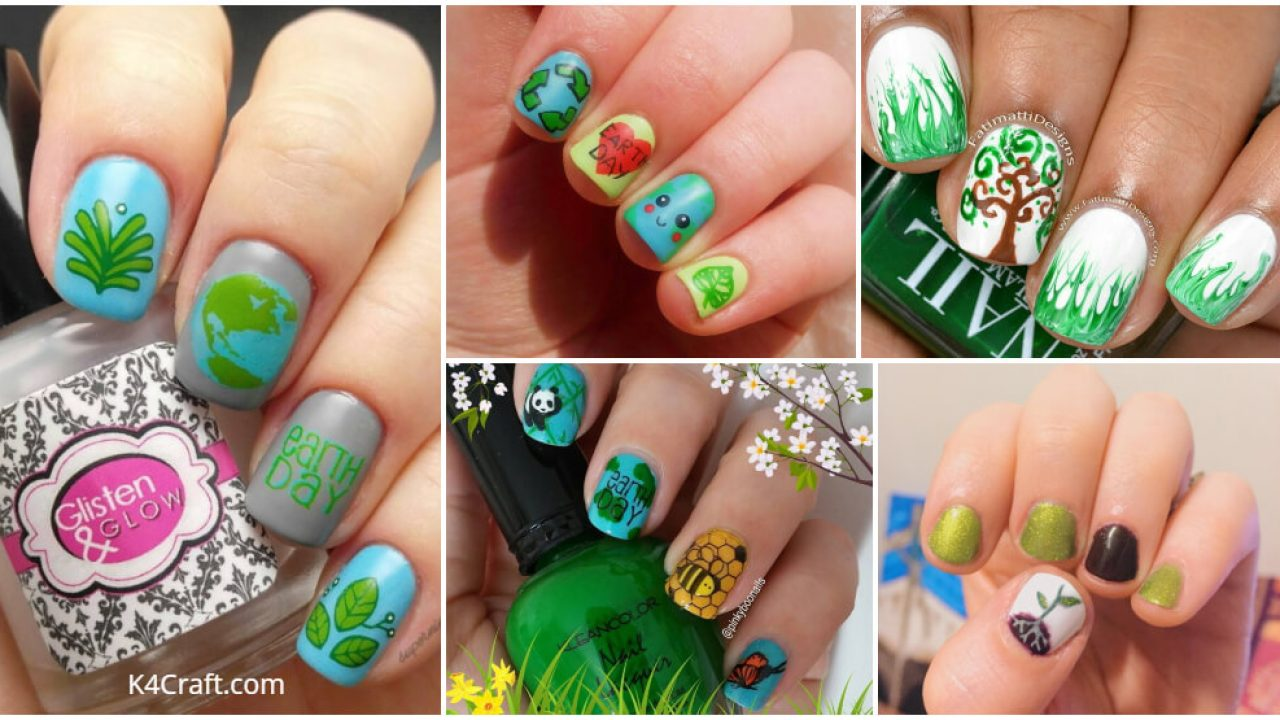 Go Green This Earth Day With These Adorable Nail Art Designs K4 Craft