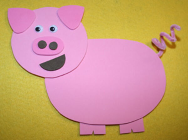 Cute Pink Pig - DIY Pig Craft Ideas