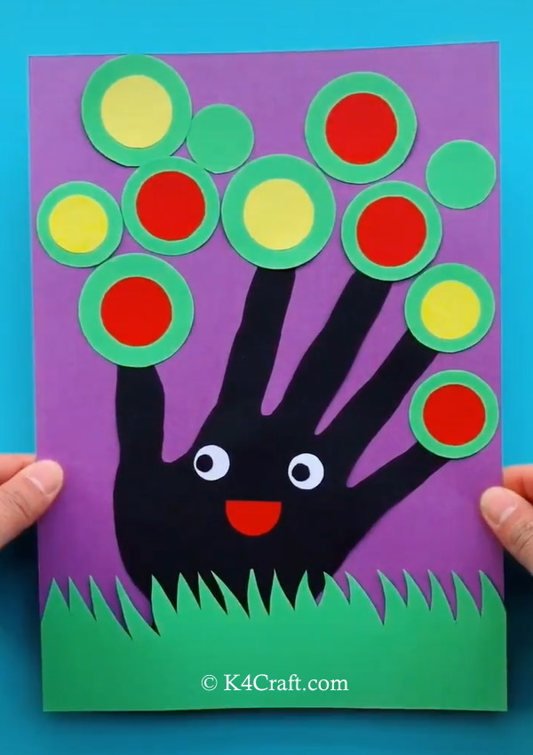 Handprint Tree Card Craft for Kids - Step by Step
