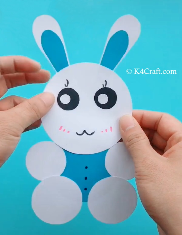 Paper Rabbit Craft for Kids – Step by Step