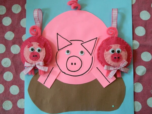 Piggy hangers - DIY Pig Craft Ideas