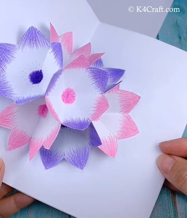 Colorful 3D flower ensemble