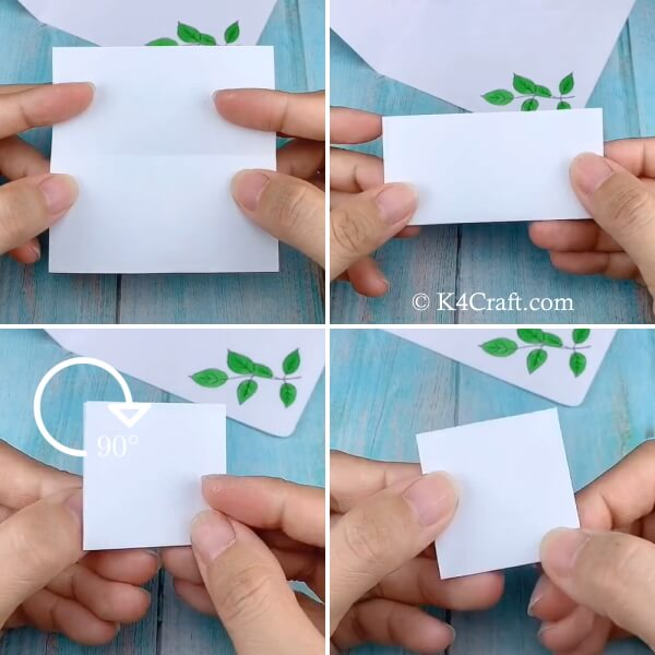 Folding paper to make 3D flowers