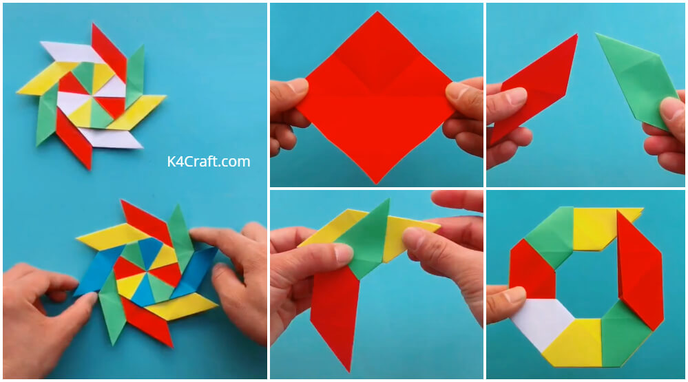 How To Make 8 Pointed Transforming Ninja Star - Step By Step