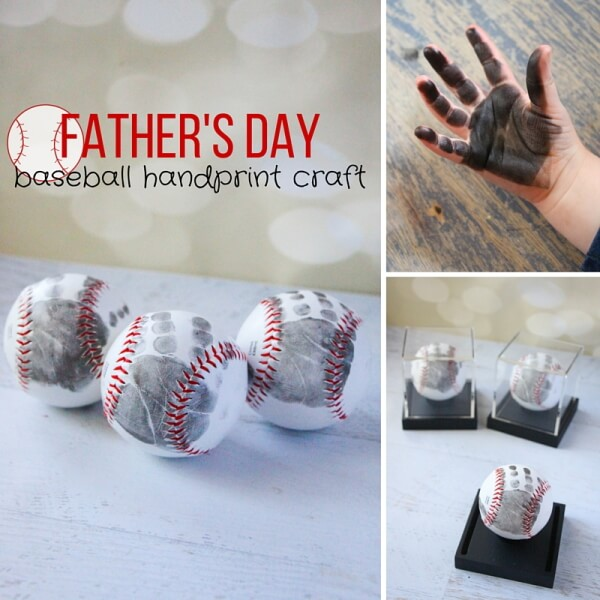 Lovely Father' Day Baseball handprint Craft