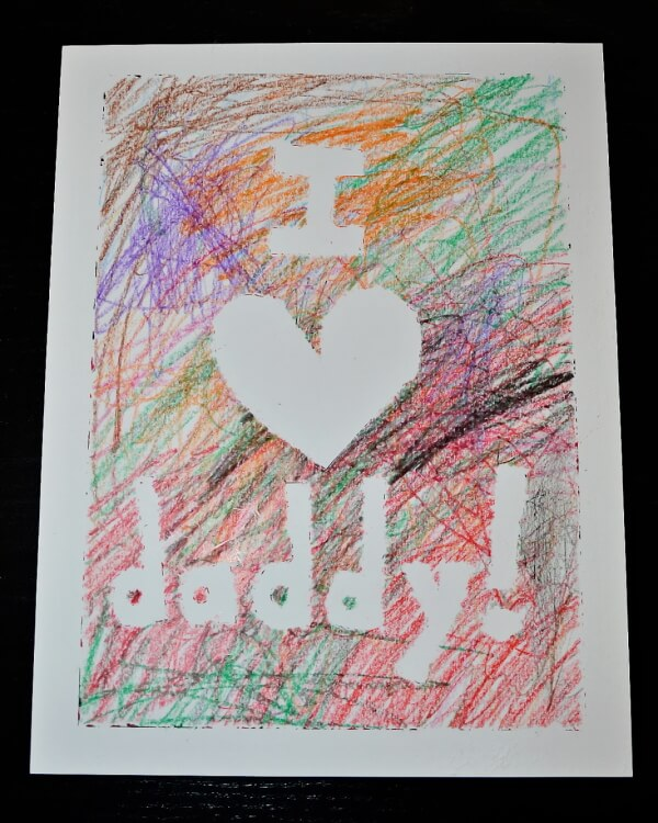 Easy to make colorful father's day card idea