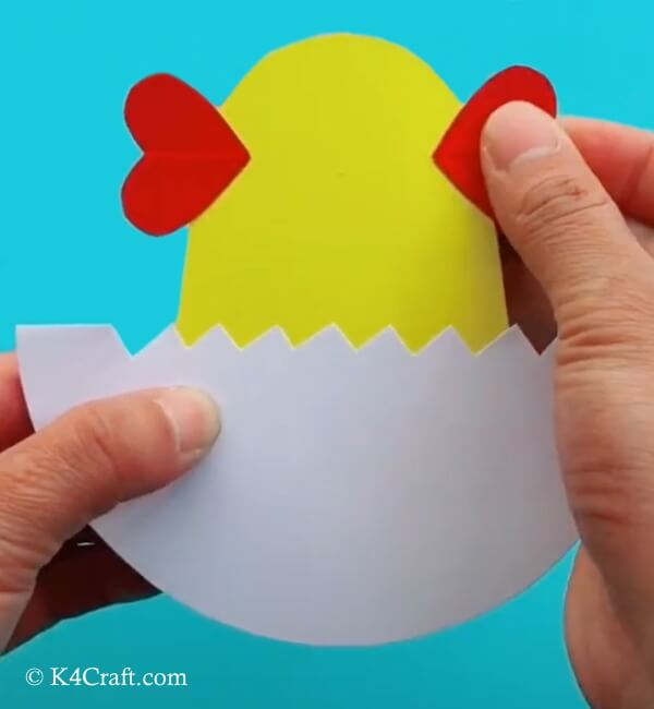 Easter Hatching Chick Paper Craft For Kids - Step by Step