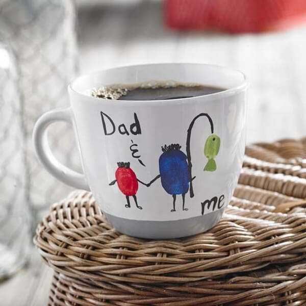 Beautiful Father's Day Fishing Mug Craft Idea