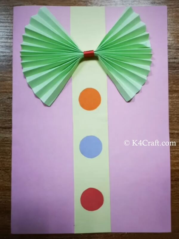 easy to make Father's day Card idea for toddlers
