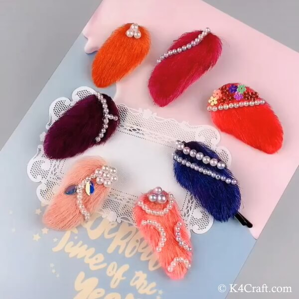 Hair Clip Accessories made out of Mango seed