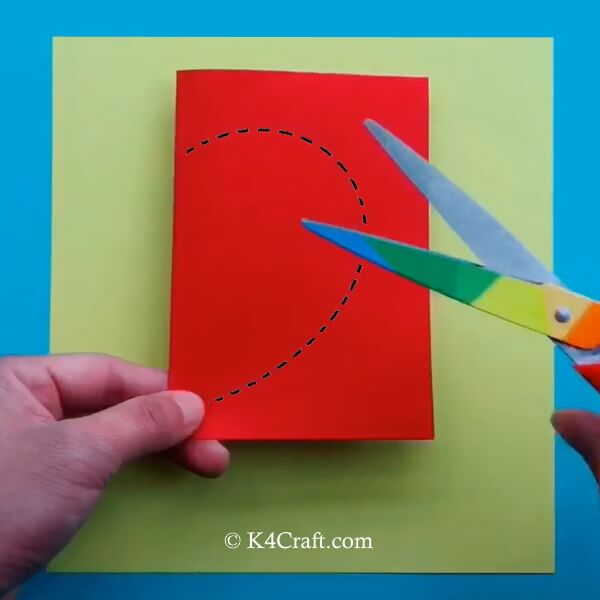 Make Paper Apple Card Craft - Step by Step