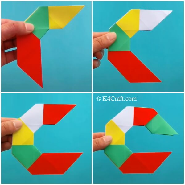 8 Pointed Transforming Ninja Star - Step by Step