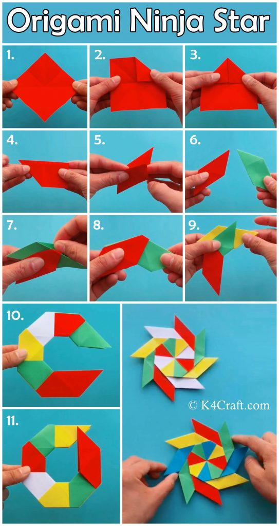 How to Make an Origami Ninja Star : 5 Steps - Instructables | 1024x543