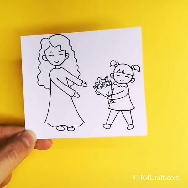 Mother's Day Paper Plate Puppet Craft For Kids - Step by step