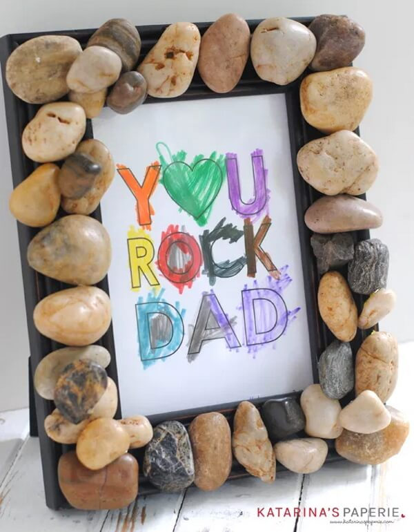 Unique 'You Rock Dad' Father's Day Gift Craft