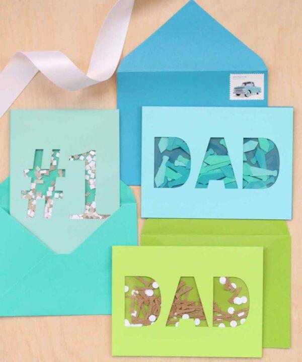 No. 1 Father Card design