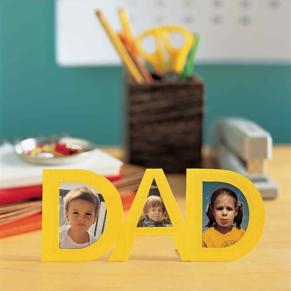 Stylish DAD Photoframe Father's Day Gift Craft Idea