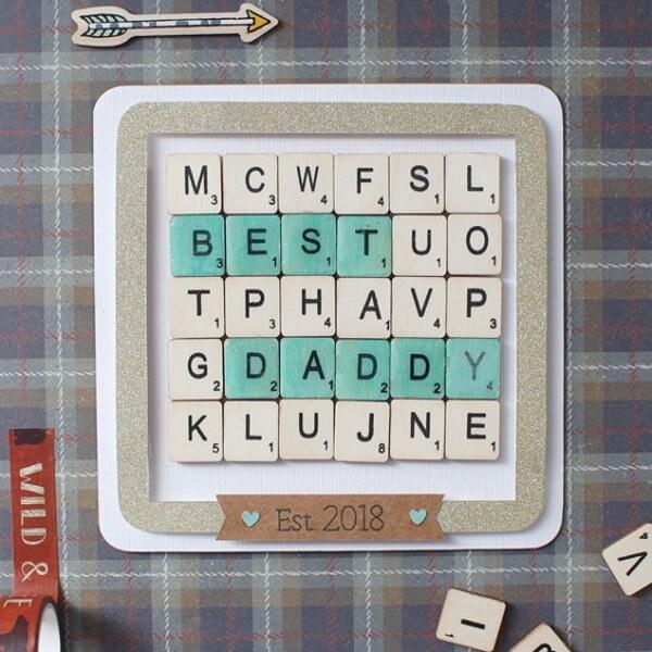 Scrabble Father's day Card idea