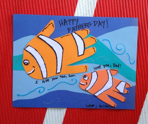 Finding nemo Father's day Card idea