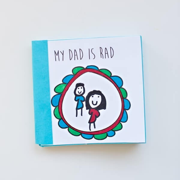 Pretty Father's Day Book Craft Idea