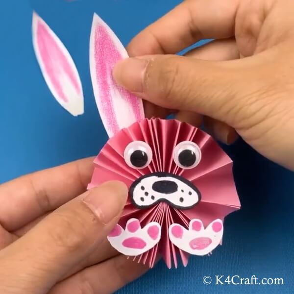 Paper Bunny Easter Craft For Kids