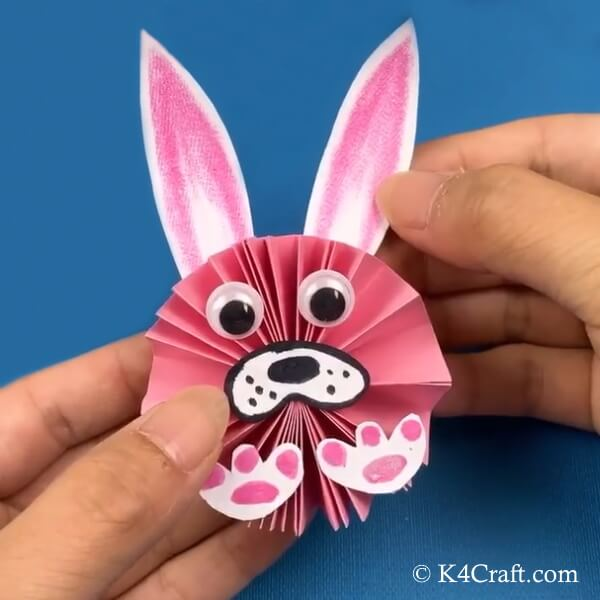 Your paper bunny craft for kids is ready