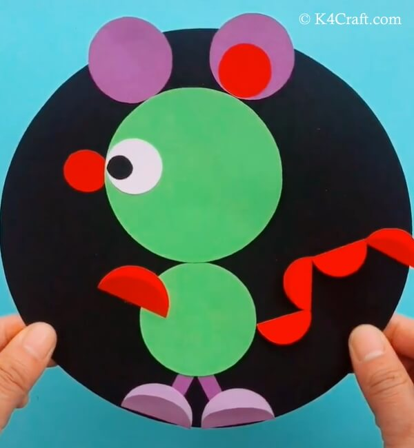 Paper Circle Mouse Craft for Kids – Step by Step