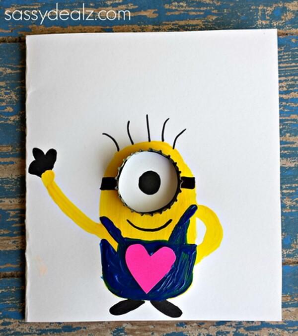 Minion Father's day card idea