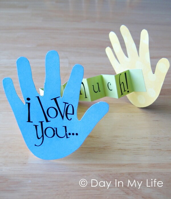 I Love you Handprint