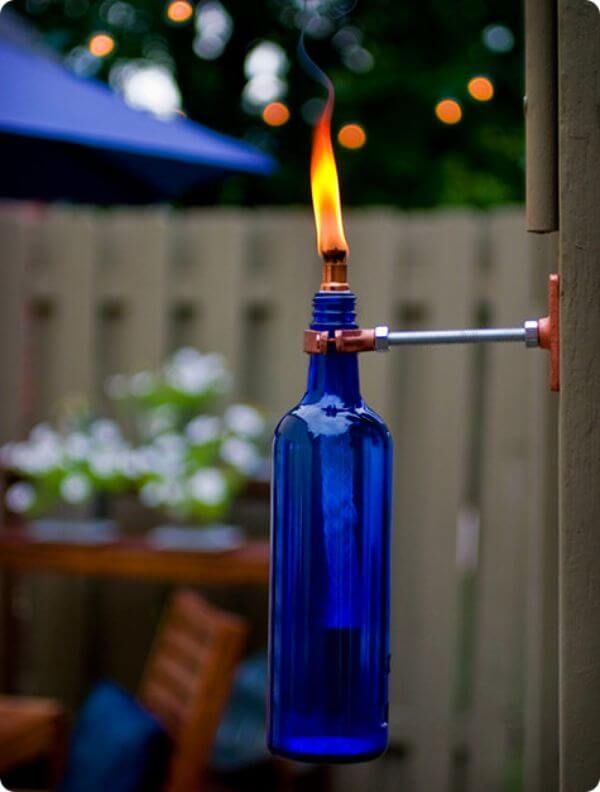 How To Decorate Garden With Bottles