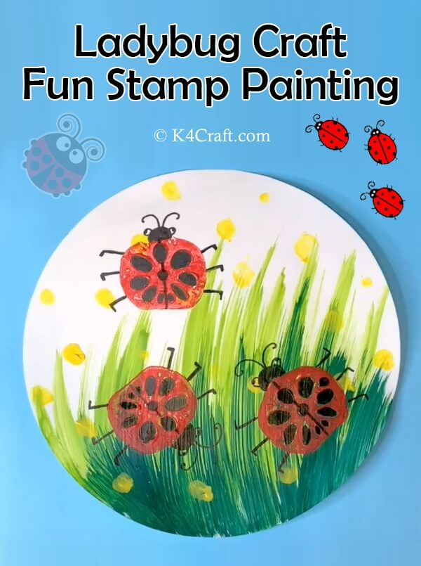 How to Make A Ladybug - Step by Step Tutorial to paint using watercolors or other paints